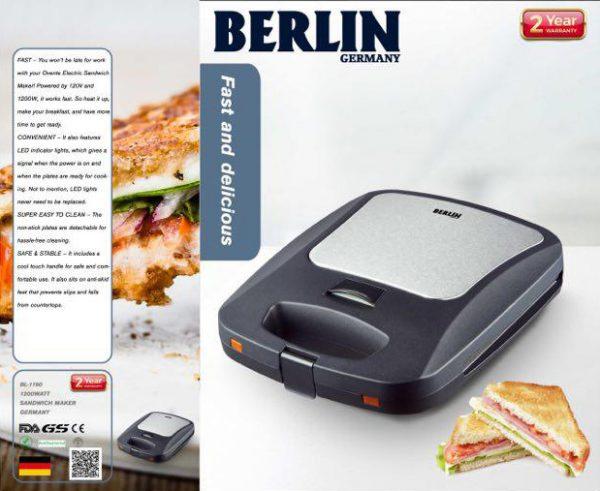 لوازم خانگی برلین ساندویچ میکر تک کاره گرانیتی